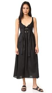 Миди-платье со шнуровкой Mara Hoffman