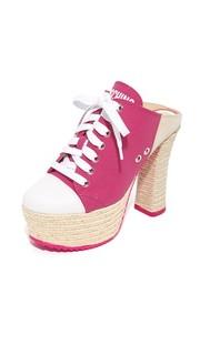 Туфли без задников на платформе со шнуровкой Moschino
