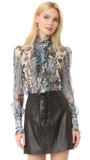 Блуза с длинными рукавами Roberto Cavalli