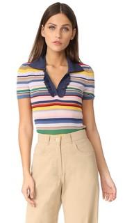 Рубашка-поло в полоску Martha Alice + Olivia