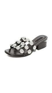 Туфли без задников Dome Lou на среднем каблуке с заклепками Alexander Wang