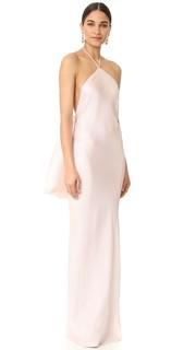 Вечернее платье с завязками уздечкой Brandon Maxwell