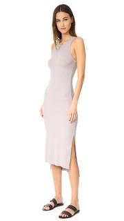 Миди-платье в рубчик без рукавов с разрезом сбоку Enza Costa