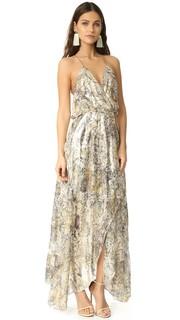 Платье со спиной-борцовкой и запахом спереди Haute Hippie