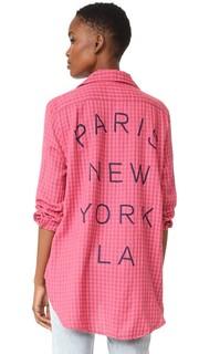 Объемная рубашка Paris NY LA Sundry