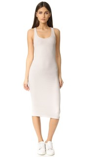 Платье без рукавов в мужском стиле из модала в рубчик ATM Anthony Thomas Melillo