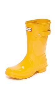 Оригинальные короткие блестящие сапоги Hunter Boots