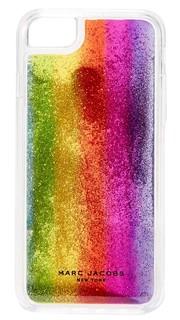 Чехол Rainbow для iPhone 7 с блестками Marc Jacobs