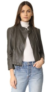 Кожаная байкерская куртка Rebecca Taylor