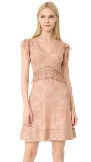 Платье с короткими рукавами Roberto Cavalli