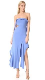 Коктейльное эластичное вечернее платье без бретелек Jonathan Simkhai
