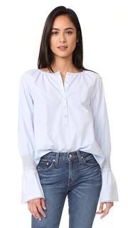 Блуза со сборками на манжетах Derek Lam 10 Crosby