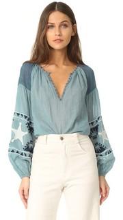 Блуза с вышивкой Scotch & Soda/Maison Scotch