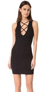 Кружевное платье с V-образным вырезом LNA