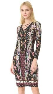 Платье с длинными рукавами Roberto Cavalli
