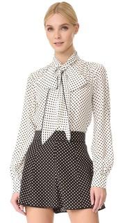 Блузка с воротником-галстуком Marc Jacobs