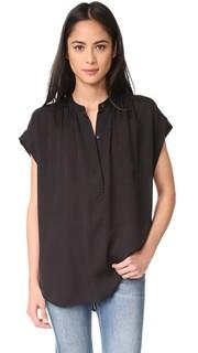 Блуза с присборенной горловиной Vince
