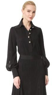 Блуза в стиле поло с длинными рукавами Prabal Gurung