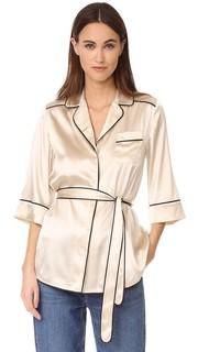 Шелковая пижамная рубашка Slyvia Whistles