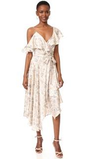 Расклешенное платье-халат Stranded Zimmermann