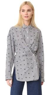 Рубашка в полоску с вышивкой Robert Rodriguez