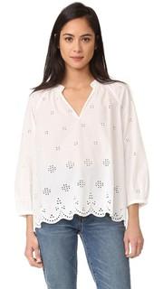 Блуза из шитья с зубчатым низом Madewell