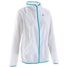Ветрозащитная Женская Куртка Для Бега В Ветреную Погоду, Белая Kalenji