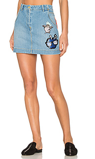 Stone washed denim skirt - Kenzo