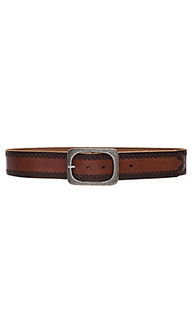 Embossed jean belt - Linea Pelle