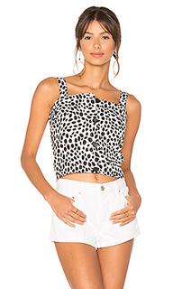Dalmatian button front apron top - MINKPINK