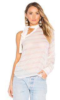 Stripe one shoulder top - No. 21