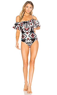 Tapestry one shoulder swimsuit - ADRIANA DEGREAS