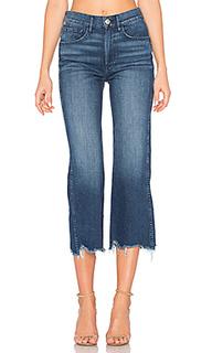 Укороченные джинсы с широкими штанинами shelter - 3x1