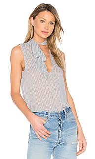 Stripe print tie neck top - Bella Dahl