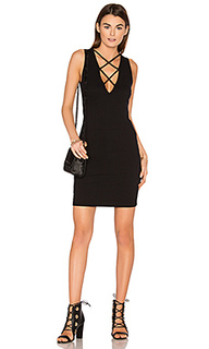 Lace up v dress - LNA