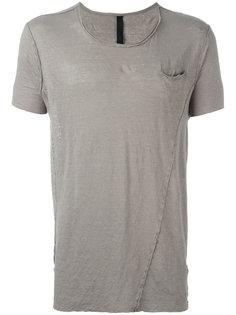 футболка с необработанным подолом Poème Bohémien