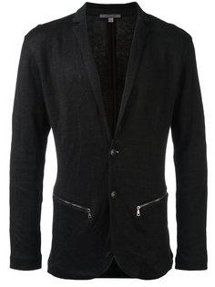 пиджак с карманами на молнии John Varvatos