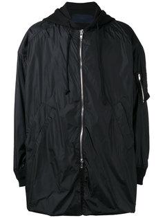 объемное пальто с капюшоном Juun.J