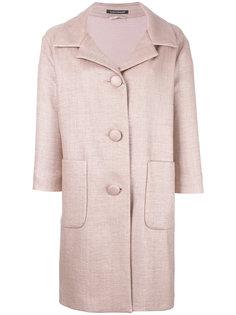 пальто на пуговицах с рукавами три четверти Luisa Cerano