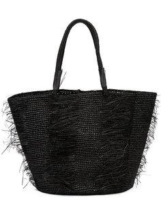 Layered straw tote Sensi Studio