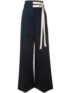 брюки с высокой талией Marni