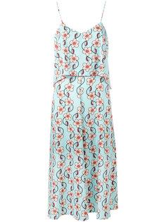многослойное платье с цветочным принтом IM Isola Marras