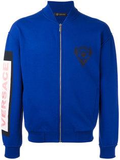 куртка-бомбер  с заплаткой с логотипом Versace