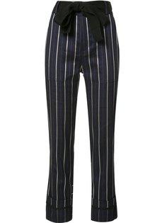 укороченные полосатые брюки с поясом Derek Lam 10 Crosby