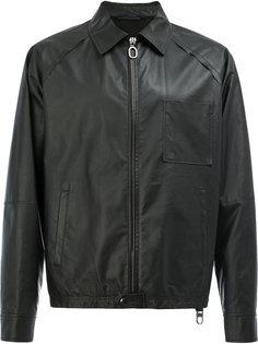 zip-up leather jacket Lanvin