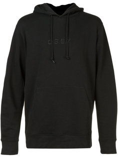 embroidered logo hoodie  Obey