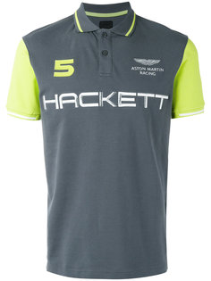 brand print polo shirt  Hackett