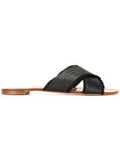 сандалии с блестящей отделкой Stuart Weitzman