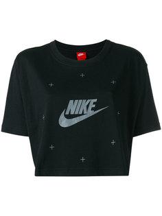 укороченная футболка с принтом-логотипом Nike