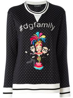 свитер с принтом Family Dolce & Gabbana